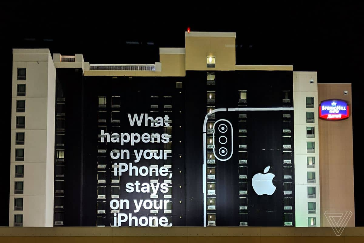 apple privacy billboard at ces