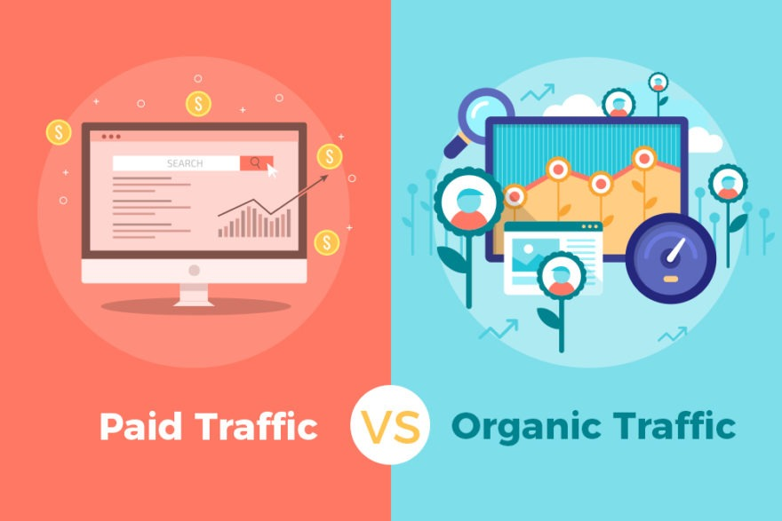 Paid vs organic traffic