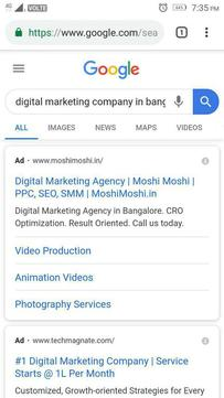 Paid search and organic search