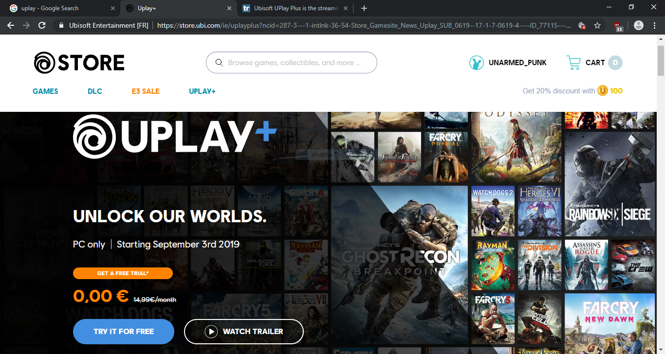 ubisoft uplay plus free trial